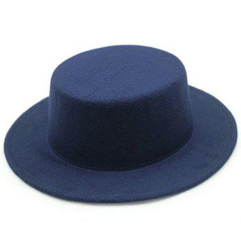 Chic Candy Color Flat Top Women's Felt Jazz Hat