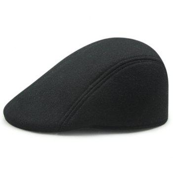 Stylish Solid Color Men's Winter Warm Cabbie Hat