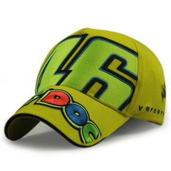 Stylish Big Numbers and Letters Brim Embroidery Men's Car Racing Baseball Cap