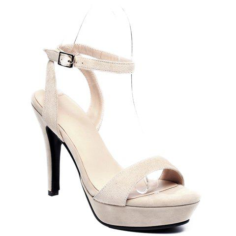 Trendy Ankle Strap and Platform Design Women's Sandals