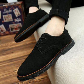 Fashionable Solid Color and Suede Design Men's Casual Shoes - 44 44