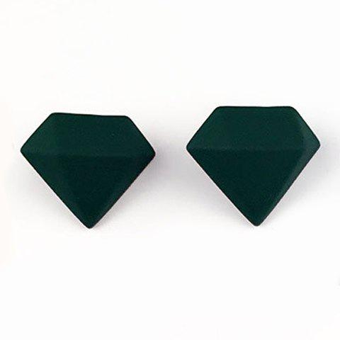 Pair of Delicate Solid Color Superman Jewelry Shape Earrings For Women - DEEP GREEN