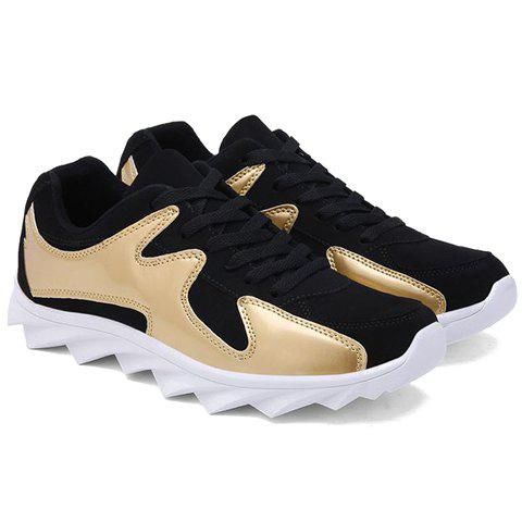 Stylish Color Block and Splicing Design Men's Athletic Shoes - GOLDEN 42