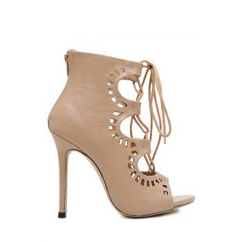 Sexy Cut Out and Cross-Strap Design Peep Toe Shoes For Women