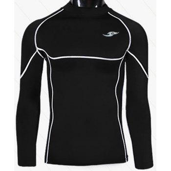 Sports Round Neck Quick-Drying Tight Long Sleeve Men's T-Shirt