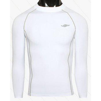Sports Round Neck Quick-Drying Long Sleeve Men's T-Shirt
