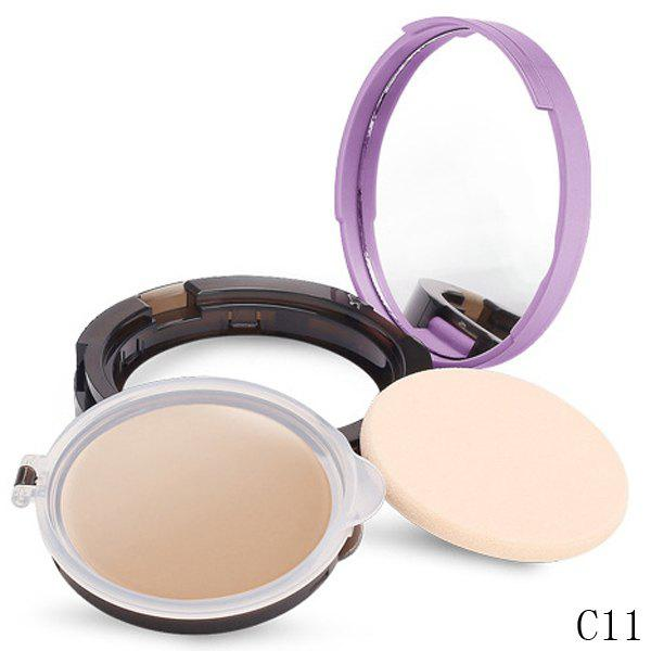 Durable Whiten Moisturize Oil-Control Foundation Concealer With Mirror and Puff -