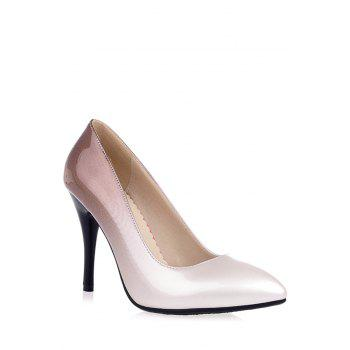 Trendy Gradient Color and Pointed Toe Design Pumps For Women - APRICOT 34