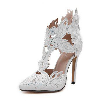 Stylish Hollow Out and Rhinestones Design Pumps For Women - 36 36