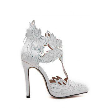 Stylish Hollow Out and Rhinestones Design Pumps For Women