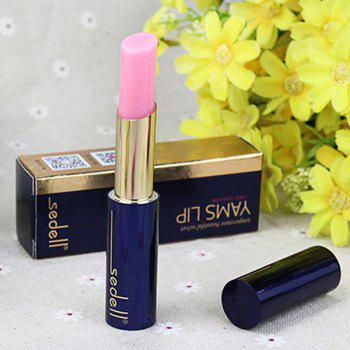 Durable Natural Chinese Yam Color Change Hydrated Moisturizing Health Lip Balm LipStick - PINK