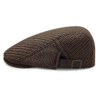 Stylish Solid Color Ramie Cotton Fabric Men's Beret