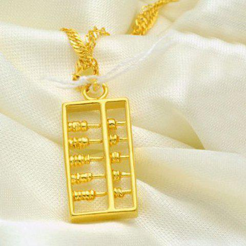 Chic Simple Style Abacus Shape Pendant For Women - GOLDEN