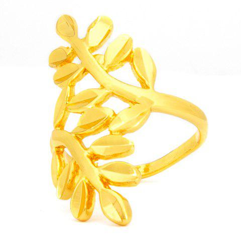 Chic Simple Style Leaf Shape Ring For Women - GOLDEN ONE-SIZE