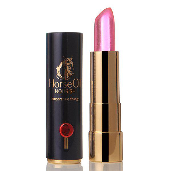 Durable Natural Horse Oil Color Change Hydrated Moisturizing Health Jelly Lip Balm LipStick - PINK