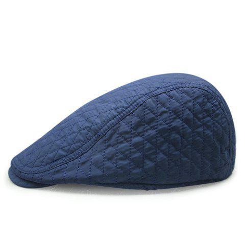 Stylish Rhombus Mesh Thread Embellished Solid Color Men's Cabbie Hat