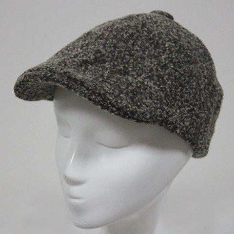 Stylish Faux Cashmere Men's Cabbie Hat - KHAKI