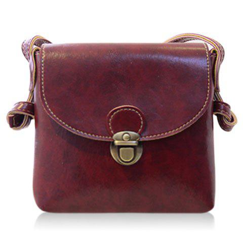 Stylish Solid Color and PU Leather Design Crossbody Bag For Women