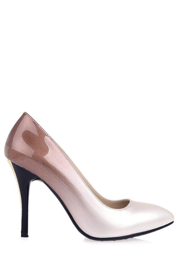Trendy Gradient Color and Pointed Toe Design Pumps For Women trendy weaving and gradient color design wallet for women