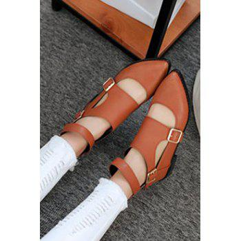 Casual Buckles and Zip Design Flat Shoes For Women - 39 39