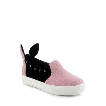 Cute Rabbit Ears and Rivets Design Flat Shoes For Women - 39 39