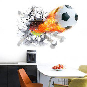 High Quality Football Breaking Wall Pattern Removeable 3D Wall Stickers