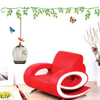 High Quality Birdcage Pattern Removeable Wall Stickers - COLORMIX
