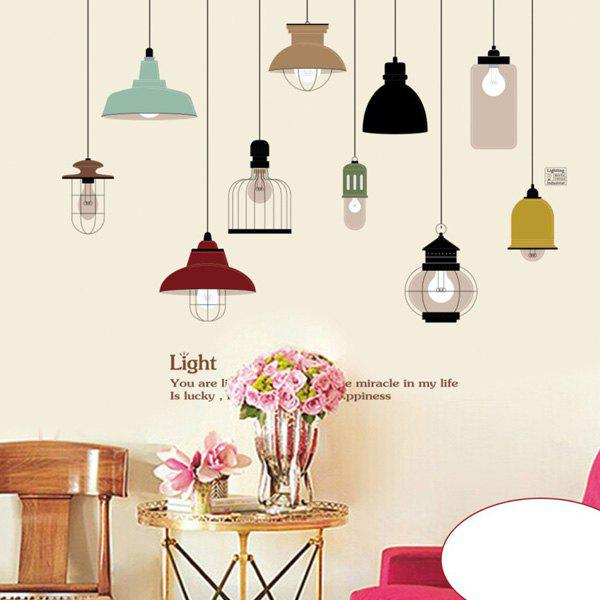 High Quality Hand-Painted Chandelier Pattern Removeable Wall Stickers - COLORMIX