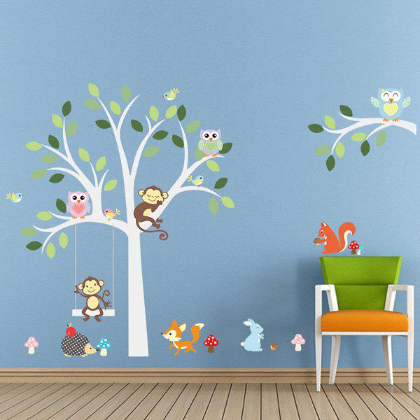 High Quality Cartoon Animals Pattern Removeable Wall Stickers - COLORMIX