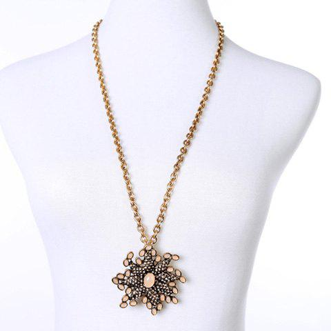 Charming Rhinestoned  Flower Shape Sweater Chain For Women