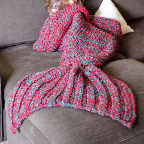 Fishtail Blanket Knitting Pattern : Chic Womens Knitted Fishtail Blanket, RED, ONE SIZE(FIT ...