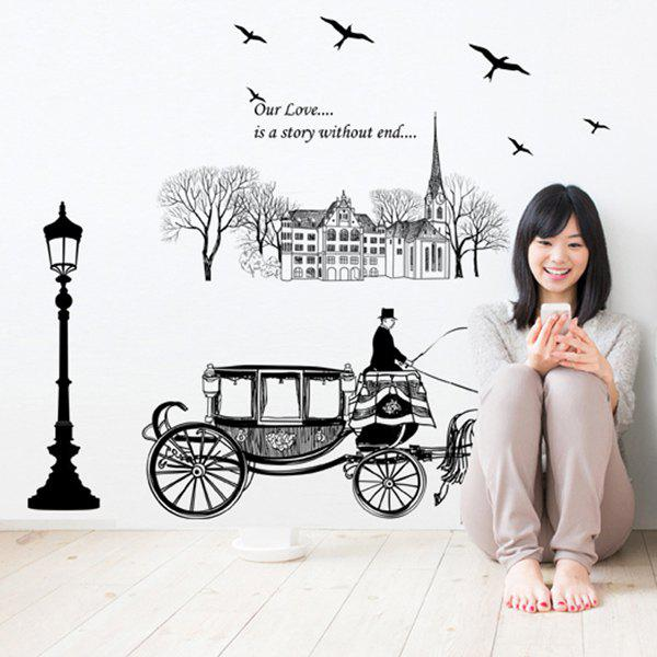 High Quality European Coach Pattern Removeable Wall Stickers