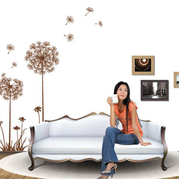 High Quality Dandelion Pattern Removeable Wall Stickers - COLORMIX