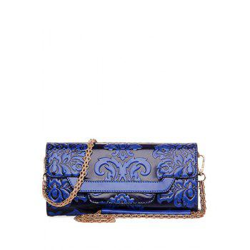 Buy Ethnic Style Chains Embossing Design Crossbody Bag Women BLUE