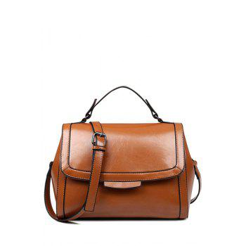 Vintage Cover and Solid Color Design Crossbody Bag For Women