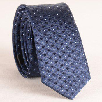 Stylish Small Lattice and Polka Dot Jacquard 5.5CM Width Men's Tie