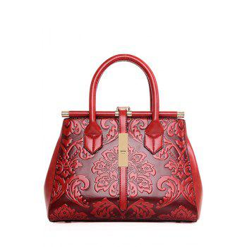 Chinese Style Embossing and Metal Design Tote Bag For Women