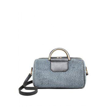 Elegant Splicing and Faux Fur Design Tote Bag For Women