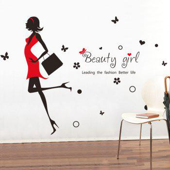 High Quality Beauty Girl Pattern Removeable Wall Stickers