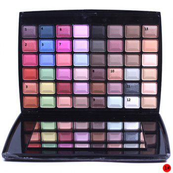 Cosmetic 48 Colours Earth Tone Shimmer Matte Eyeshadow Palette with Mirror and Brush