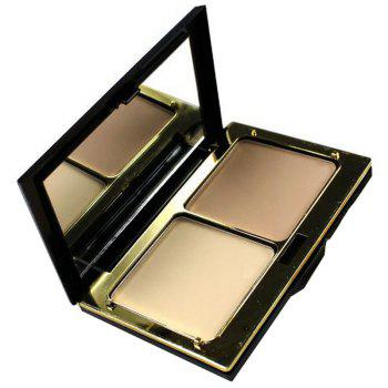 Cosmetic 3 Colours Calm Makeup 2 Layers Dry Wet Pressed Powder Palette with Puff and Mirror