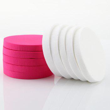 10 Pcs Water Swellable Powder Puff - PINK/WHITE