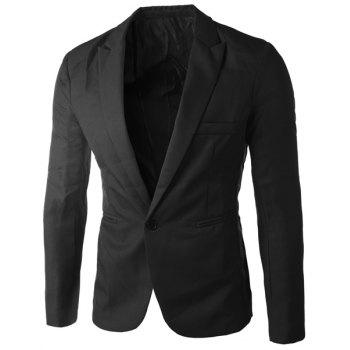 Casual Single Button Tailored Collar Solid Color Blazer For Men