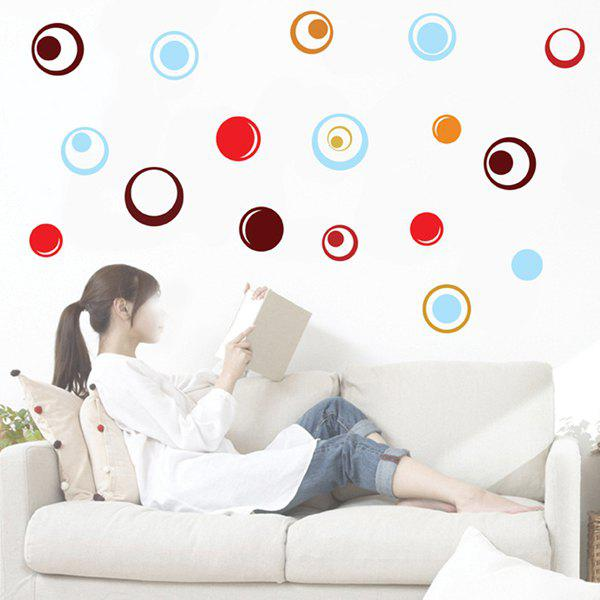 High Quality Colorful Circle Pattern Removeable Wall Stickers - COLORMIX