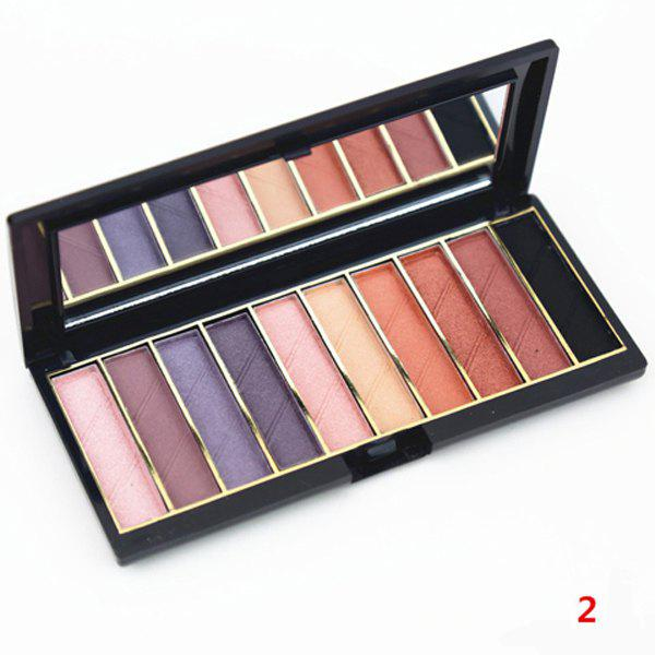 Cosmetic 10 Colours Nude Makeup Earth Tone Pearl Matte Eyeshadow Palette with Mirror -