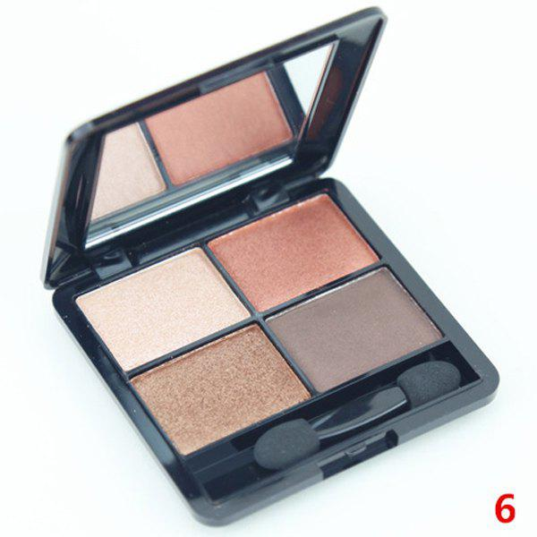 Cosmetic 4 Colours Nude Makeup Pearl Matte Eyeshadow Palette with Mirror and Brush