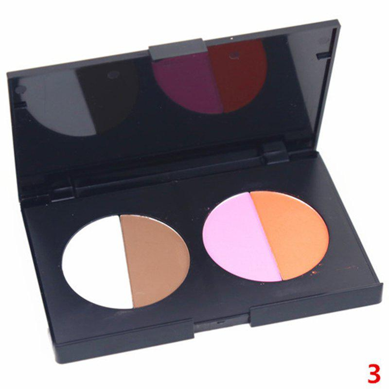 Cosmetic 4 Colours Contour Highlight Shadow Blush Pressed Powder Palette -