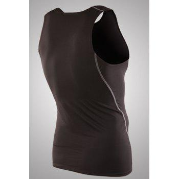 Slim Fit Dry Fit Pullover Solid Color Tank Top For Men - 2XL 2XL