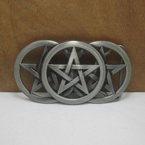 Stylish Five-Pointed Star Hollow Out Alloy Belt Buckle For Men - GUN METAL