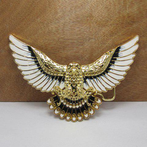 Stylish Flying Eagle Shape Alloy Belt Buckle For Men - GOLDEN